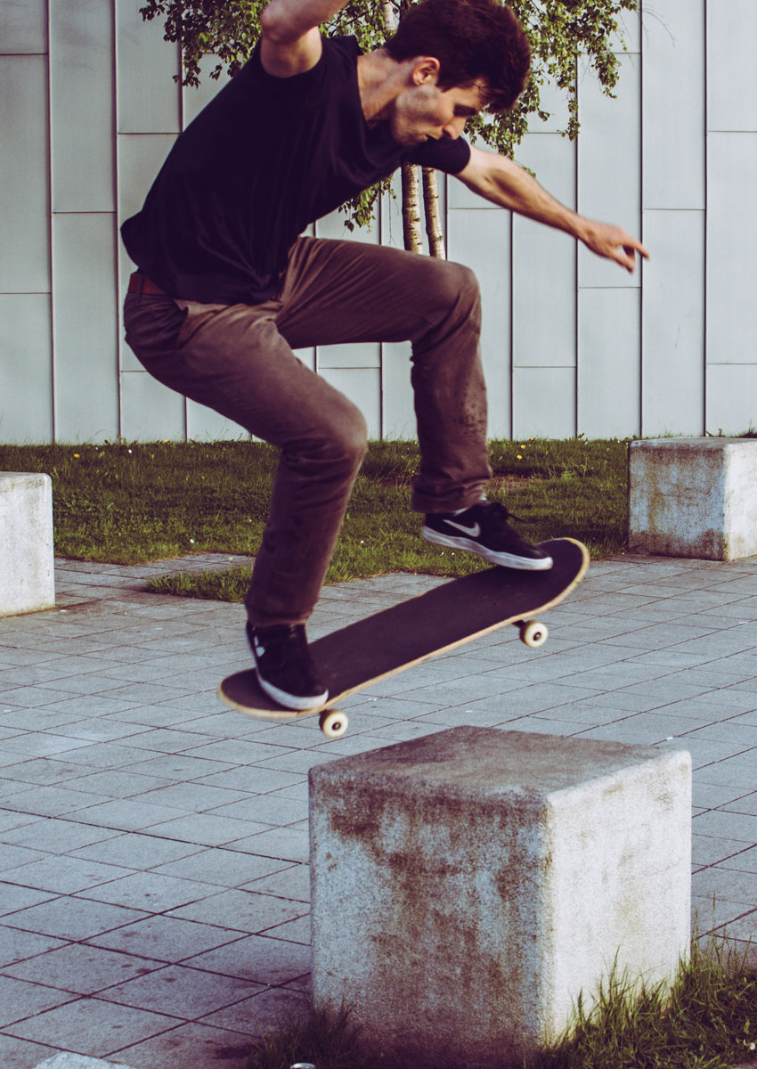 Skateboarder at the Riverside Museum, Glasgow