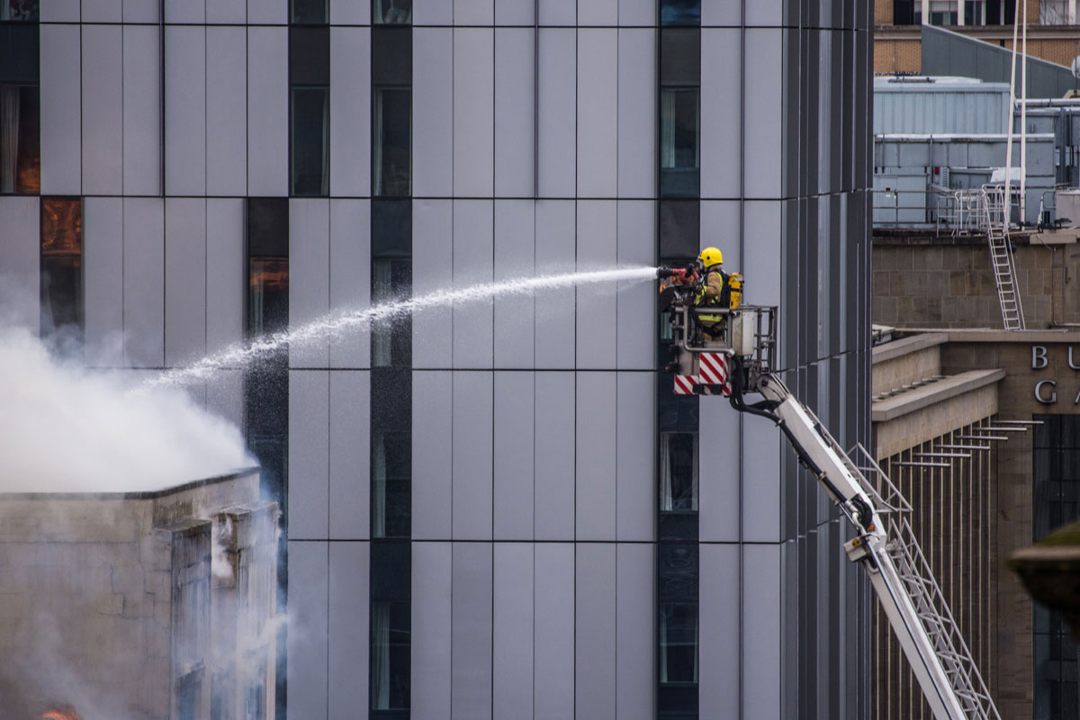 Firefighter at Victoria's Nightclub