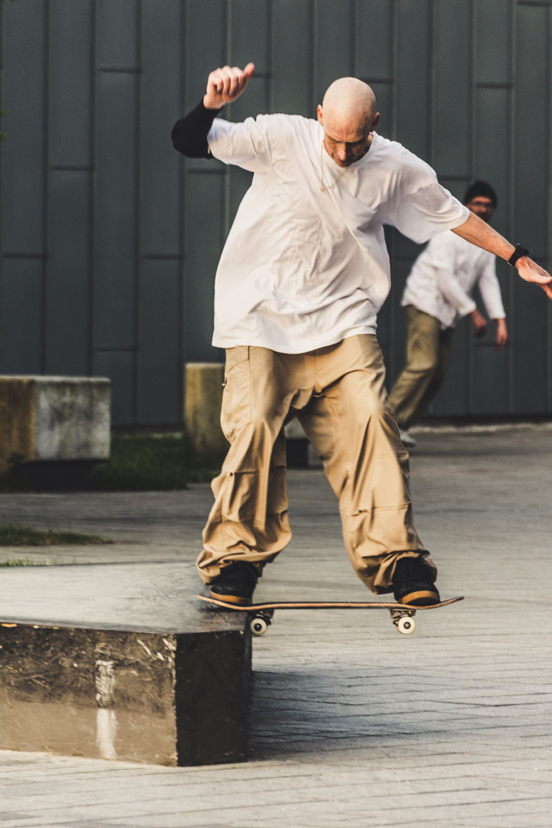 Skateboarder at the Riverside Museum, Glasgow
