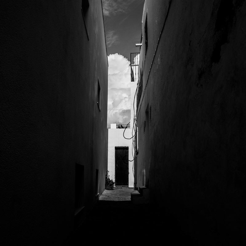 Black and White Photo Thin ally in Mojacar, Spain