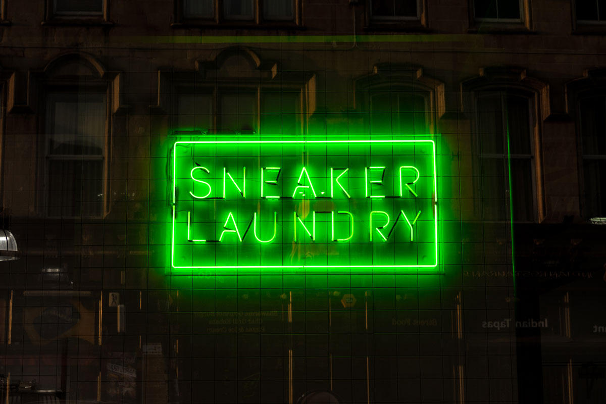 Sneaker Laundry Neon Sign Sneakers ER Glasgow