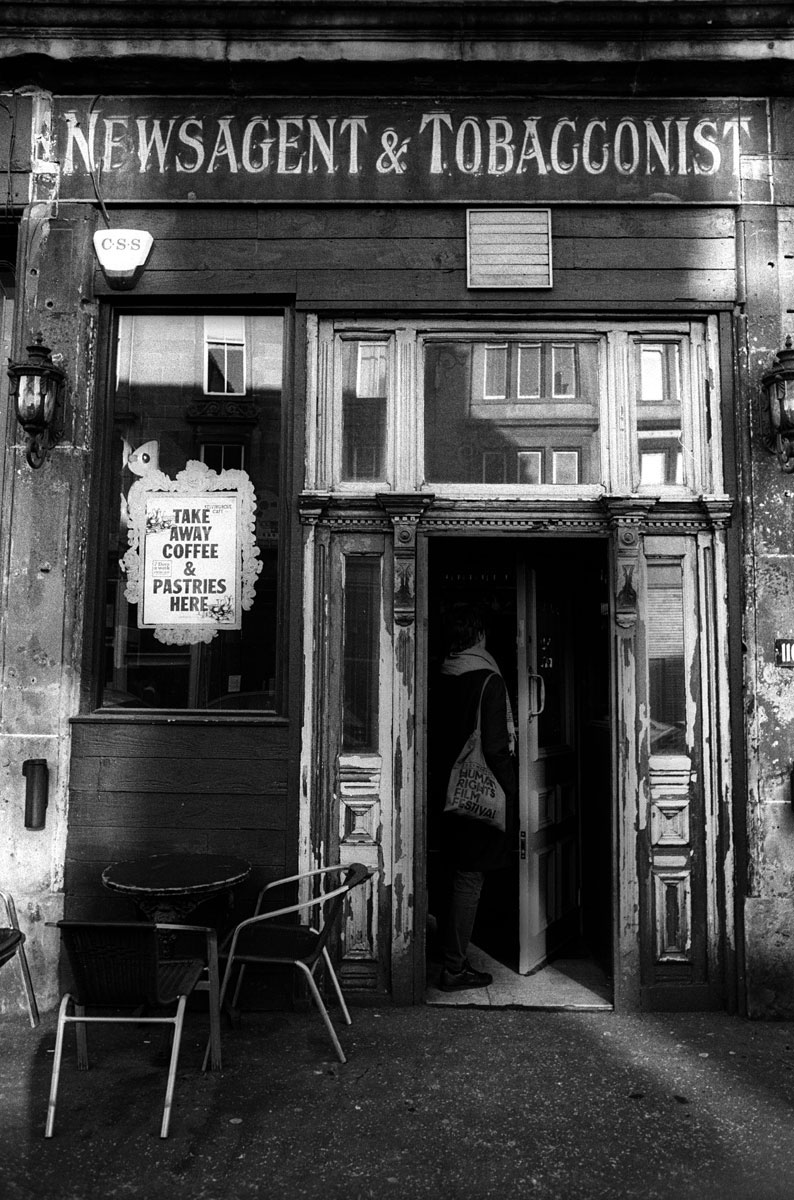 Newsagent & Tobacconist Finnieston Glasgow 35mm Ilford Black And White Photo