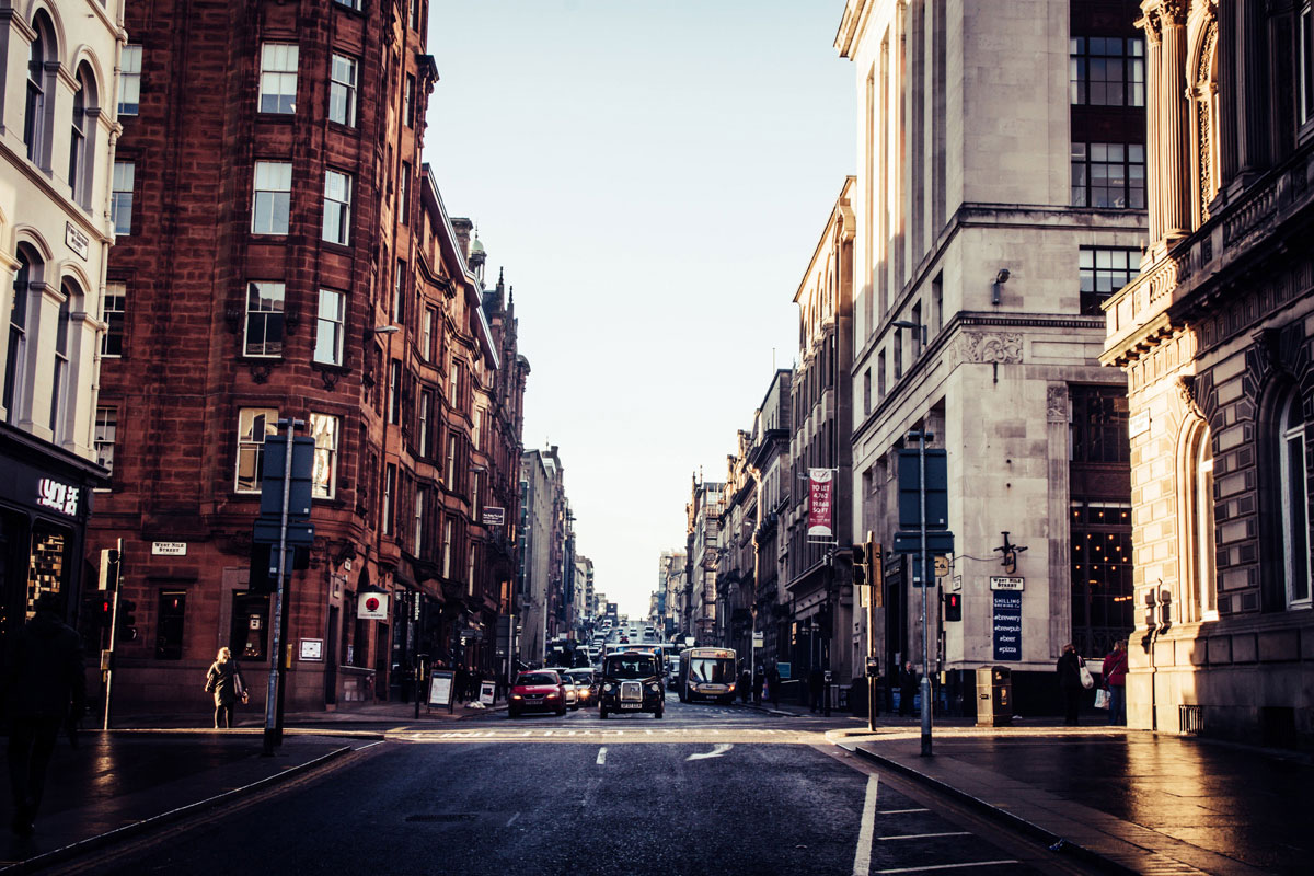 West George Street from Nelson Mandela Square Glasgow Scotland