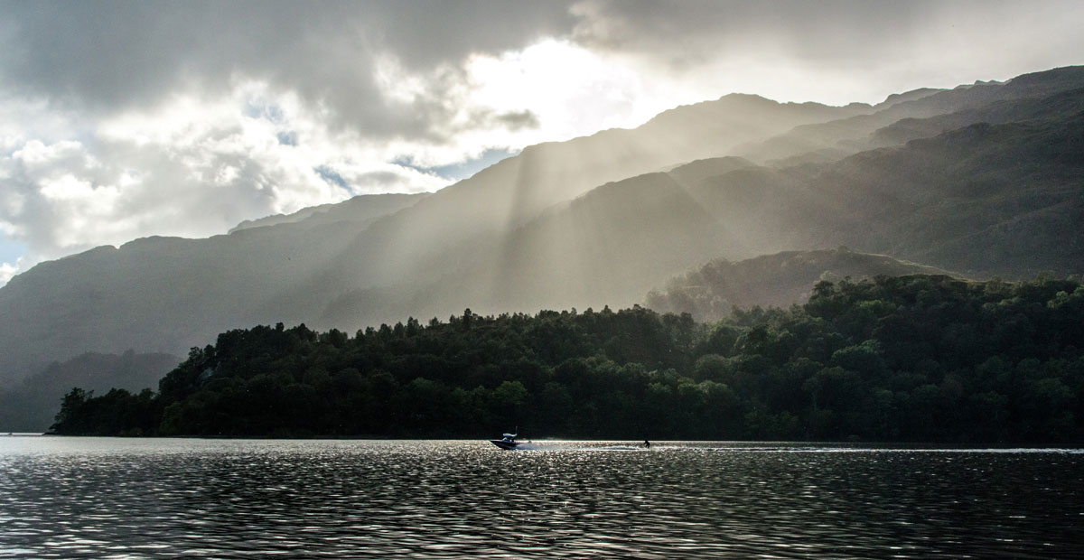 Sun Breaking Through, Loch Lomond, Scotland