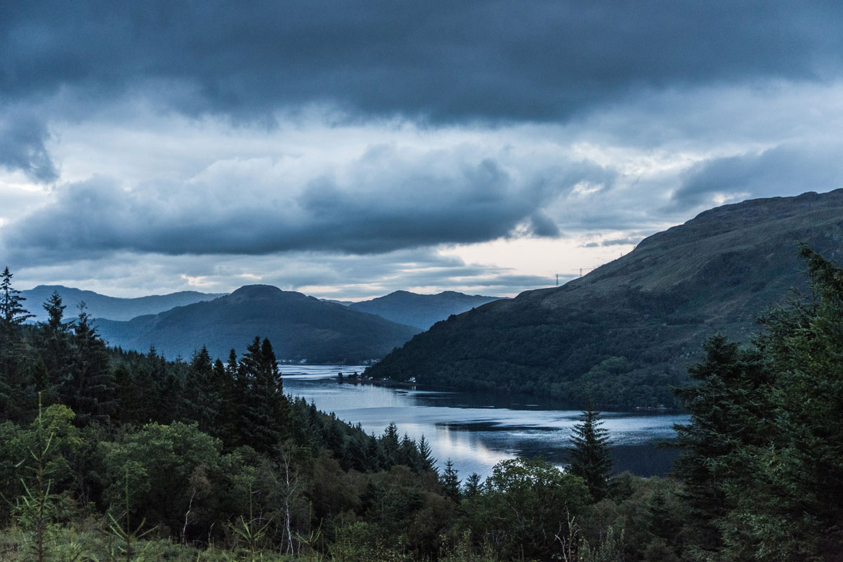 Moody Clouds Over Loch Long