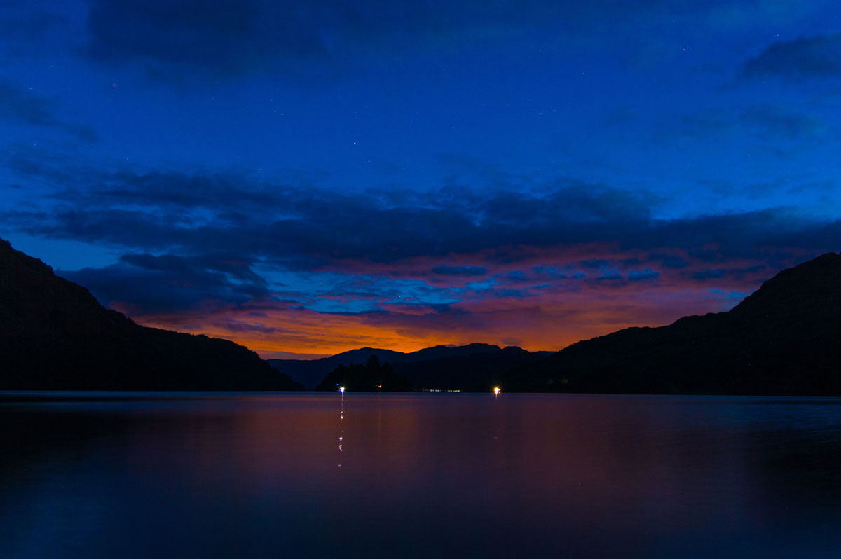 Sunset loch lomond long exposure