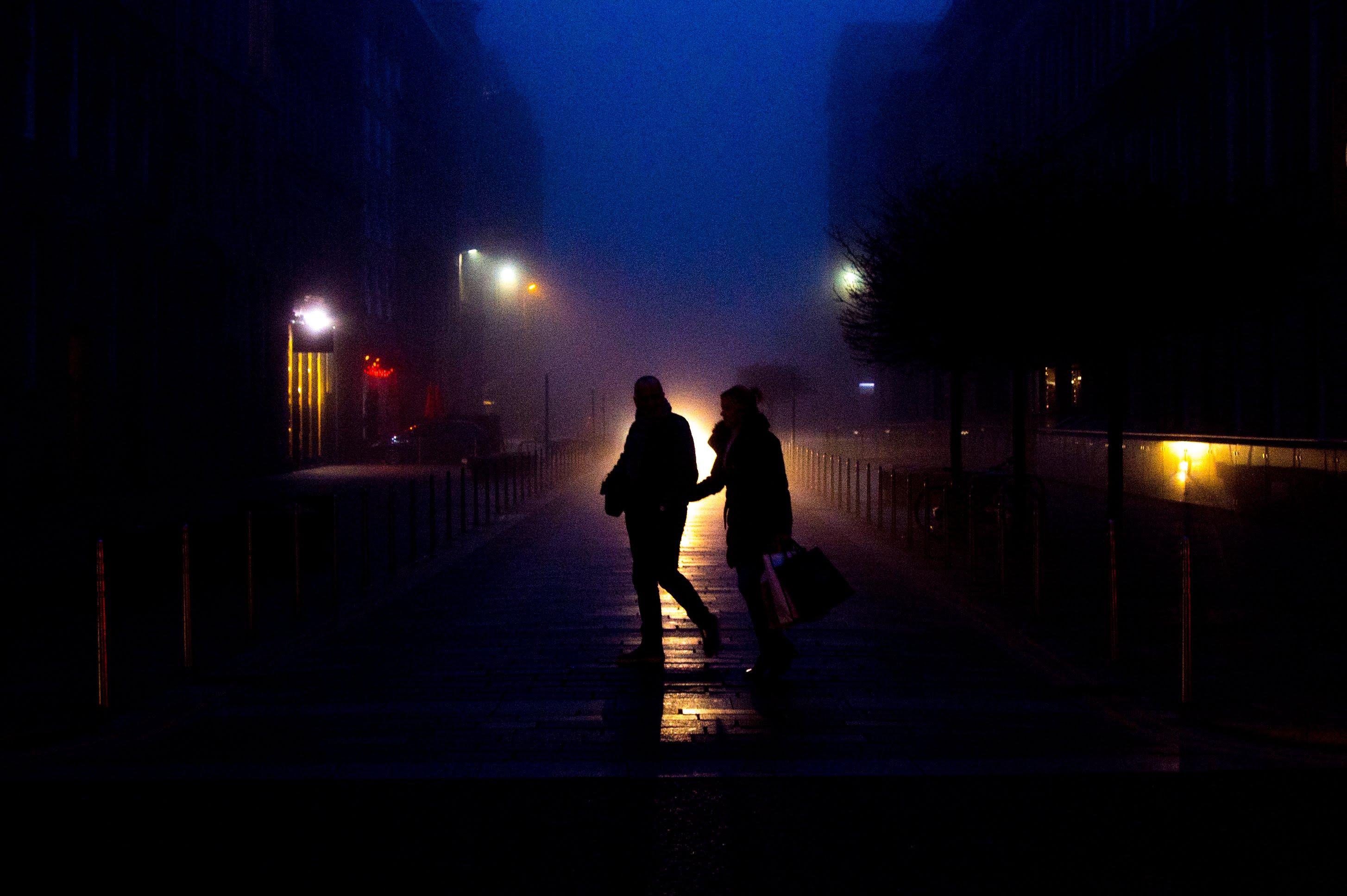 Silhouettes in Fog, Brunswick Street, Glasgow