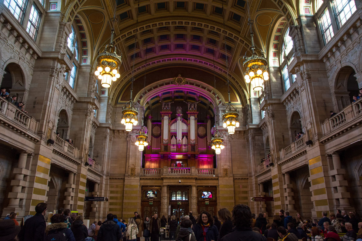 Kelvingrove Museum Organ Lights Glasgow