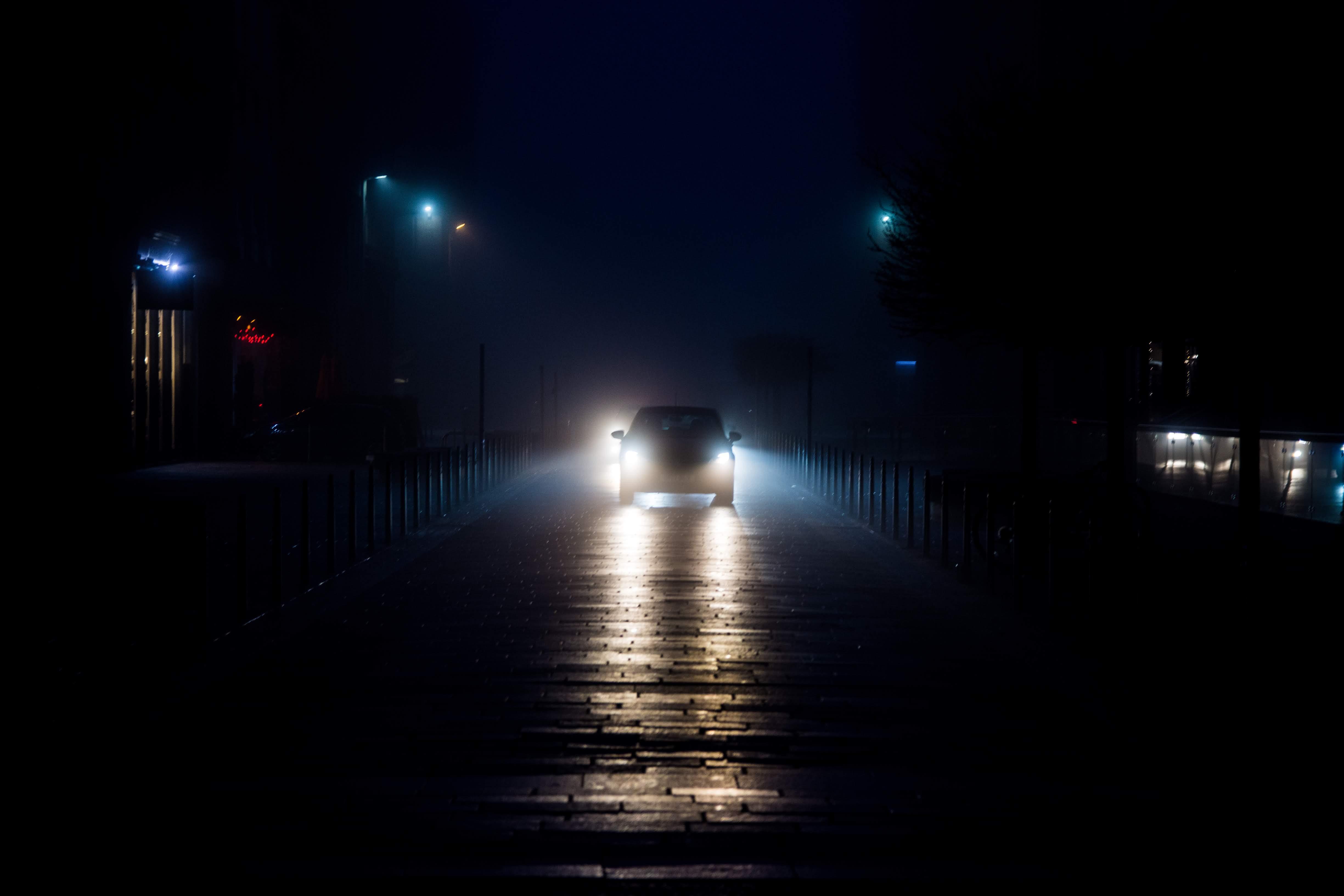 Brunswick Street Car in Fog Glasgow