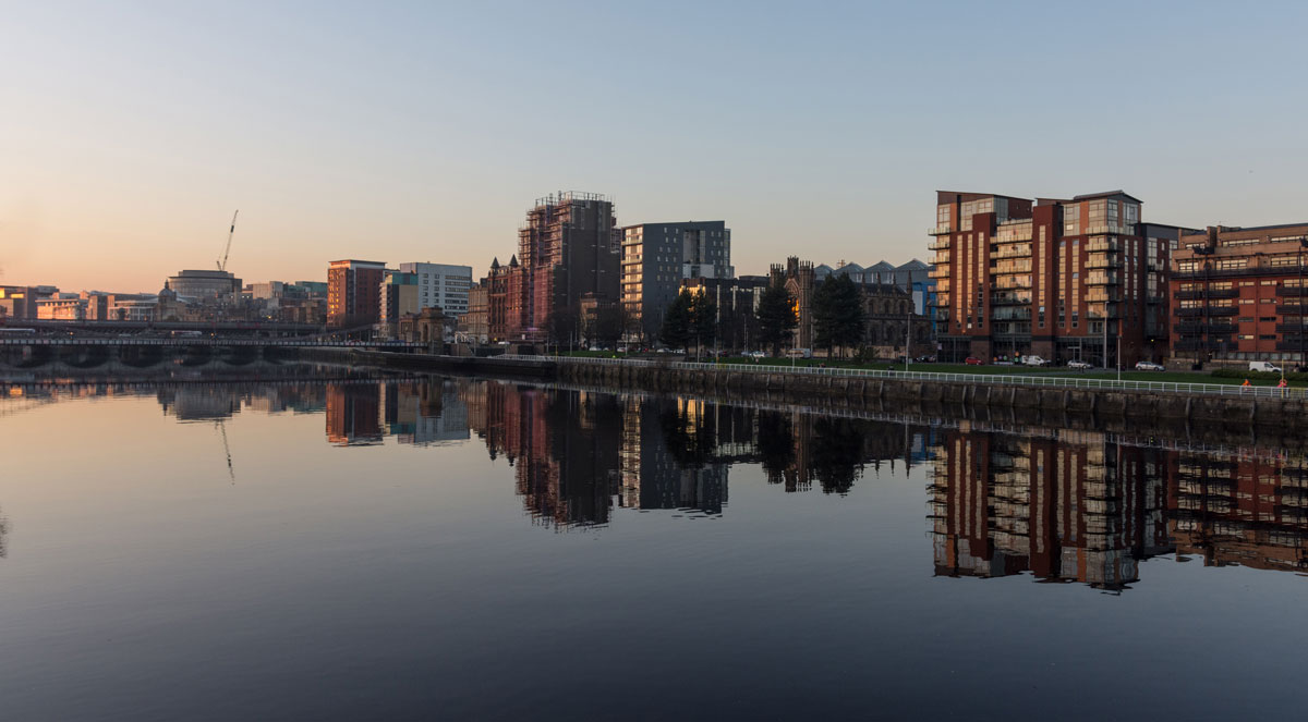 Sunset on the River Clyde Glasgow