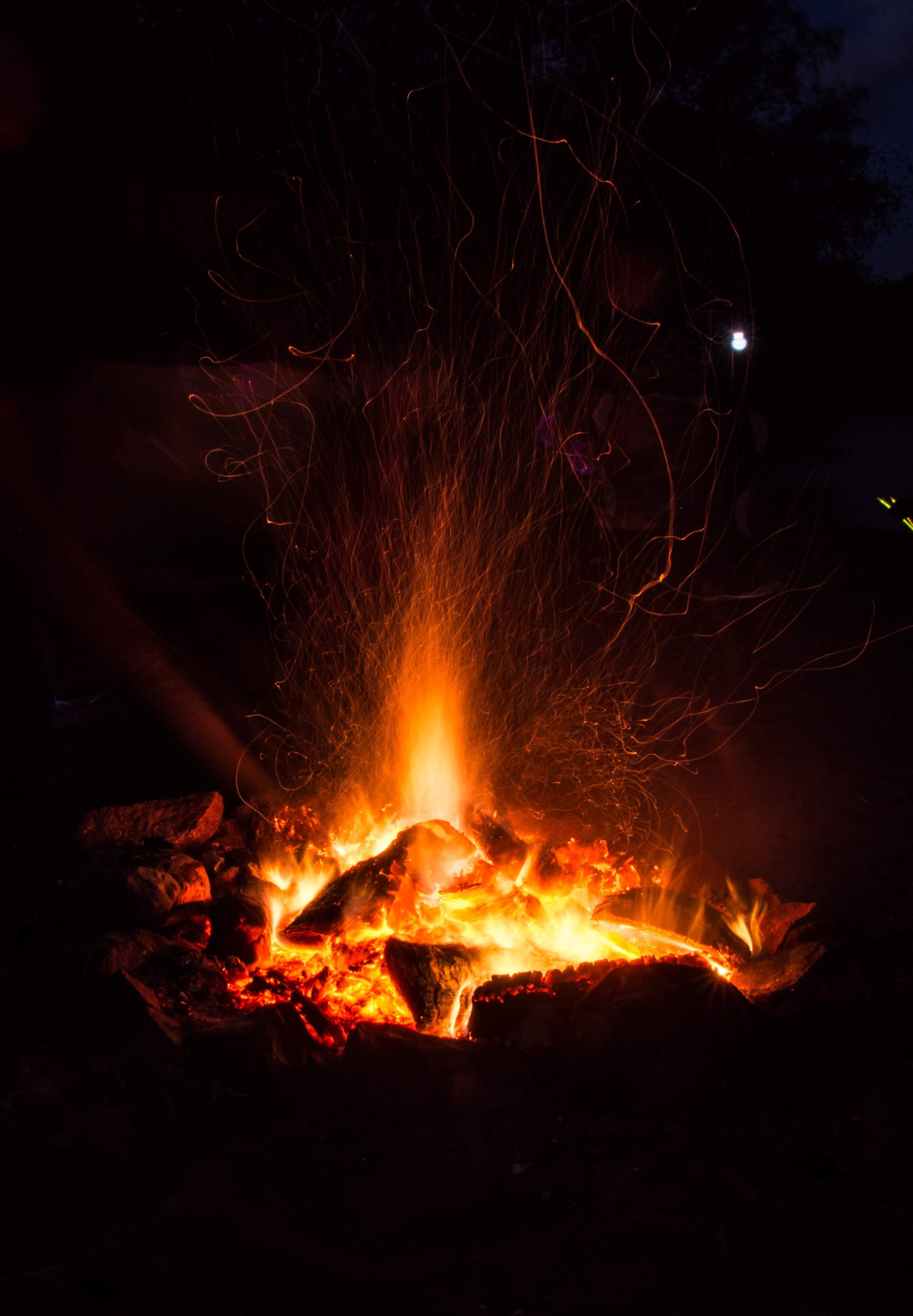 Camp Fire at Rannoch Loch