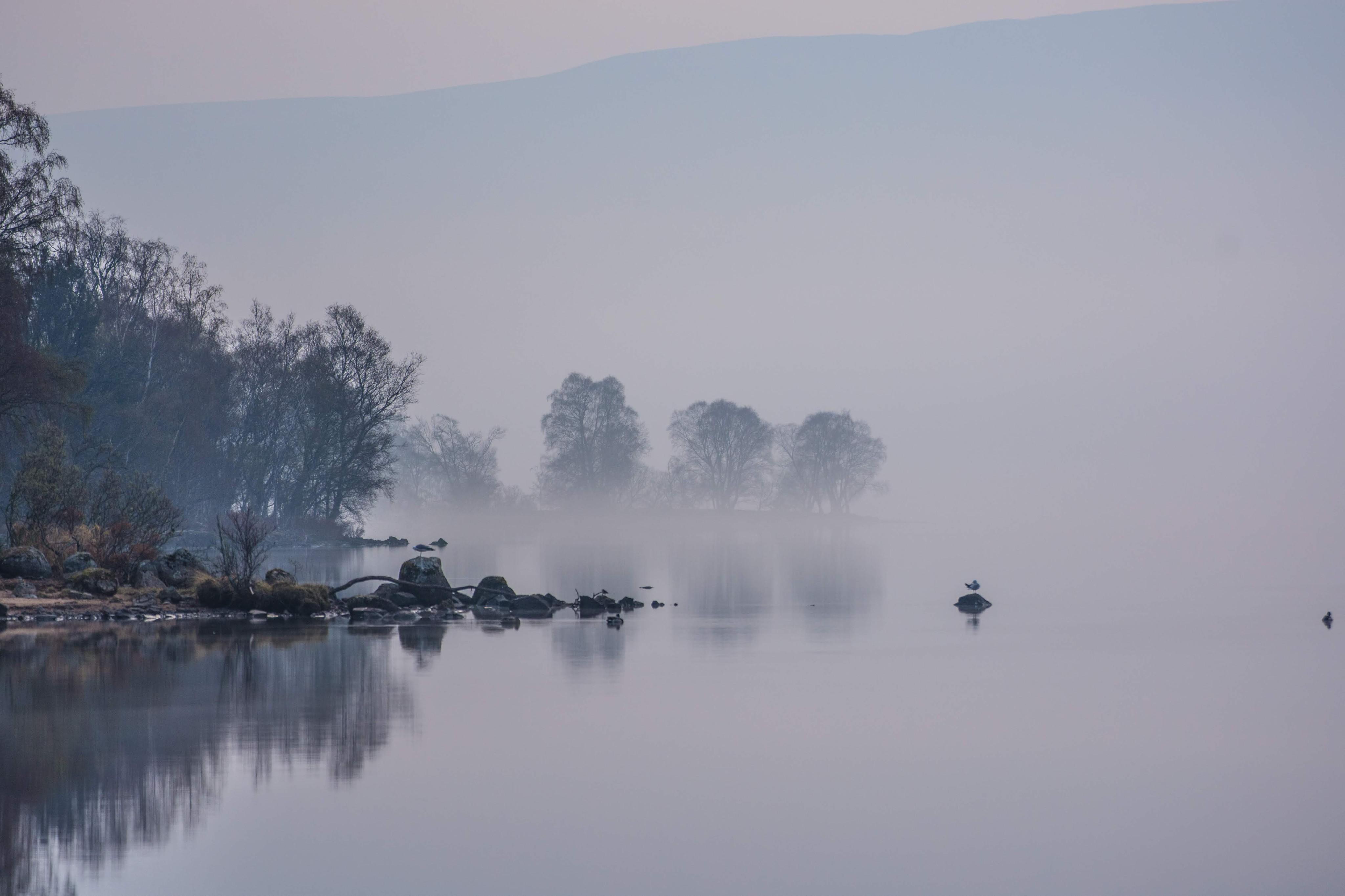 Morning Mist on Rannoch Loch